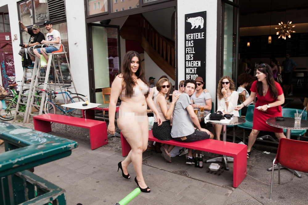 Plus Model Bares All in Nude Stroll Through Berlin
